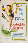 """Movie Posters:Foreign, Mademoiselle Striptease (DCA, 1957). One Sheet (27"""" X 41""""). Comedy.. ..."""