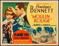 "Moulin Rouge (United Artists, 1934). Half Sheet (22"" X 28""). Comedy"
