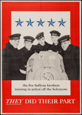 """Movie Posters:War, World War II Propaganda (U.S. Government Printing Office, 1943).Poster (28.5"""" X 40"""") OWI Poster No. 42. """"They Did Their Par..."""