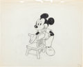 Animation Art:Production Drawing, Mickey Mouse Production Drawing Animation Art (1980s)....