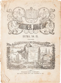 The Adventures of Obadiah Oldbuck - Brother Jonathan Extra #IX (Wilson and Company, 1842) Condition: Poor