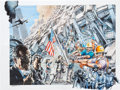 Original Comic Art:Miscellaneous, Neal Adams Heroes Hand-Painted Photostat Production Art(Marvel, 2001)....