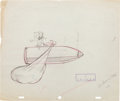 Animation Art:Production Drawing, The Stork's Holiday Baby Kitten Production Drawing AnimationArt (MGM, 1943)....