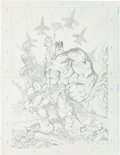 "Original Comic Art:Splash Pages, The Hulk ""9/11"" Penciled Pin-Up with Preliminary Sketch OriginalArt Group (Marvel, 2001).... (Total: 2 Original Art)"