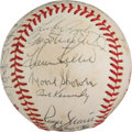 Baseball Collectibles:Balls, 1982-84 Cracker Jack Old Timers' Multi Signed Baseball With Roger Maris. ...