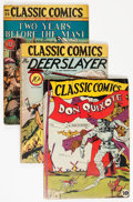 Golden Age (1938-1955):Classics Illustrated, Classic Comics Original Editions Group (Gilberton, 1943-46) Condition: Average VG-.... (Total: 5 Comic Books)