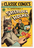 Golden Age (1938-1955):Classics Illustrated, Classic Comics #33 Adventures of Sherlock Holmes - Original Edition(Gilberton, 1947) Condition: GD/VG....