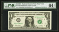 Error Notes:Mismatched Serial Numbers, Fr. 1926-B $1 2001 Federal Reserve Note. PMG Choice Uncirculated 64 EPQ.. ...