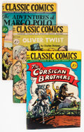 Golden Age (1938-1955):Classics Illustrated, Classic Comics Original Editions Group (Gilberton, 1944-47)Condition: Average VG+.... (Total: 5 Comic Books)