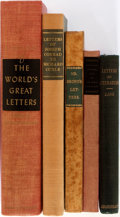 Books:Biography & Memoir, [Joseph Conrad, John Falstaff, Andrew Lang, William Makepeace Thackeray, et al]. Group of Five Books of Letters. Also includ... (Total: 5 Items)