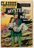 Golden Age (1938-1955):Classics Illustrated, Classics Illustrated #44 Mysteries of Paris - Original Edition(Gilberton, 1947) Condition: VG+....