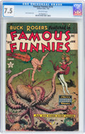 Golden Age (1938-1955):Science Fiction, Famous Funnies #215 (Eastern Color, 1955) CGC VF- 7.5 Off-white pages....