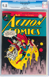 Action Comics #81 Mile High pedigree (DC, 1945) CGC NM/MT 9.8 White pages