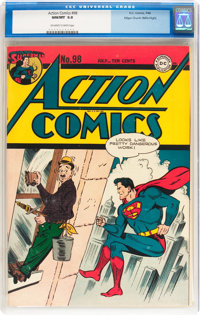 Action Comics #98 Mile High pedigree (DC, 1946) CGC NM/MT 9.8 Off-white to white pages