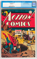 Golden Age (1938-1955):Superhero, Action Comics #92 Mile High pedigree (DC, 1946) CGC NM 9.4 Off-white to white pages....