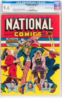 National Comics #2 Mile High pedigree (Quality, 1940) CGC NM+ 9.6 White pages