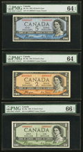 Canadian Currency: , Matched Serial Number Trio of Coyne-Towers Signed Devil's FaceNotes.. ... (Total: 3 notes)