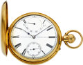 Timepieces:Pocket (pre 1900) , Bracebridge London Gold Demi-Hunter Fusee With Wind Indicator,circa 1867. ...