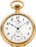Timepieces:Pocket (post 1900), Waltham 23 Jewel Gold Premier Maximus, circa 1909. ...