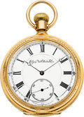 Timepieces:Pocket (pre 1900) , Elgin Rare & Fine Grade 91, 2nd Model 21 Jewel Convertible,circa 1881. ...