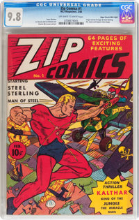 Zip Comics #1 Mile High pedigree (MLJ, 1940) CGC NM/MT 9.8 Off-white to white pages