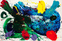 SAM FRANCIS (American, 1923-1994) Untitled, 1988 Acrylic on canvas 79-1/2 x 120 inches (201.9 x 3