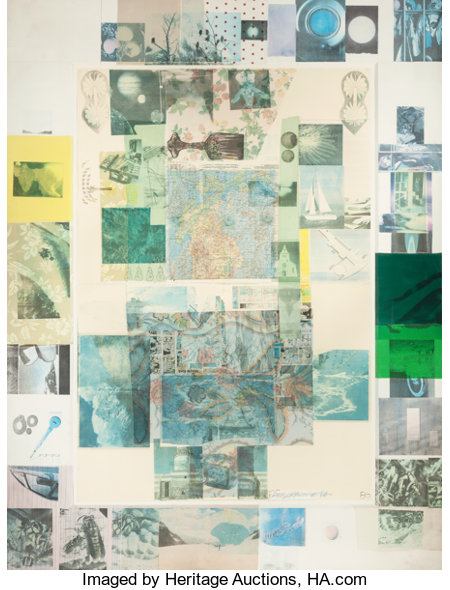 ROBERT RAUSCHENBERG (American, 1925-2008)Rush I (from the Cloister series), 1980Solvent transfer on paper and co...