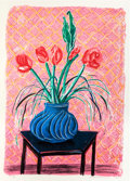 Prints:Contemporary, DAVID HOCKNEY (British, b. 1937). Amaryllis in a Vase, 1984.Lithograph in colors. 45-1/2 x 32-1/8 inches (115.6 x 81.5 ...