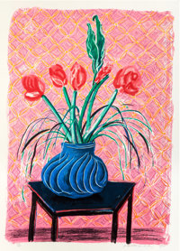 DAVID HOCKNEY (British, b. 1937) Amaryllis in a Vase, 1984 Lithograph in colors 45-1/2 x 32-1/8 i