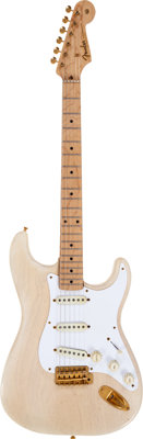 1957 Fender Mary Kaye Stratocaster White Solid Body Electric Guitar, Serial # 14963