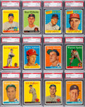 Baseball Cards:Sets, 1958 Topps Baseball Partial Set (153) - An Exclusive PSA NM-MT 8Gallery. ...