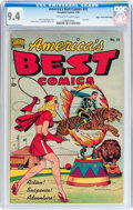 Golden Age (1938-1955):Superhero, America's Best Comics #31 Mile High pedigree (Standard Publications, 1949) CGC NM 9.4 Off-white to white pages....