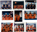 Autographs:Celebrities, Space Shuttle Crew-Signed Original NASA Color Photos (Collection of Nine).... (Total: 9 Items)