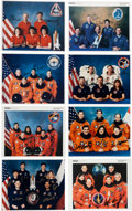 Autographs:Celebrities, Space Shuttle Crew-Signed Original NASA Color Photos (Collection ofEight).... (Total: 8 Items)