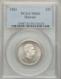 Coins of Hawaii: , 1883 25C Hawaii Quarter MS61 PCGS. PCGS Population (50/1101). NGCCensus: (56/836). Mintage: 500,000. ...