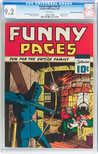 Funny Pages V3#7 Mile High pedigree (Centaur, 1939) CGC NM- 9.2 White pages
