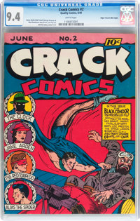 Crack Comics #2 Mile High pedigree (Quality, 1940) CGC NM 9.4 White pages