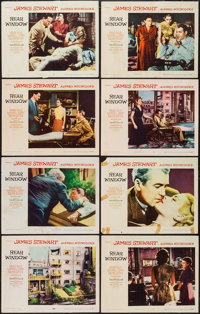 "Rear Window (Paramount, 1954). Lobby Card Set of 8 (11"" X 14""). Hitchcock. ... (Total: 8 Items)"