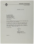 Autographs:Celebrities, Neil Armstrong Typed Letter Signed....