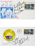 Explorers:Space Exploration, Apollo 12 Crew-Signed Insurance Covers (Two) Directly from the Personal Collection of Mission Lunar Module Pilot Alan Bean, Ce... (Total: 2 Items)