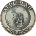 Explorers:Space Exploration, Apollo 12 Flown Silver Robbins Medallion, Serial Number 113,Directly from the Personal Collection of Mission Lunar ModulePil...