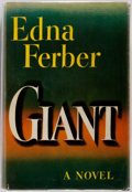 Books:Literature 1900-up, Edna Ferber. Giant. Garden City: Doubleday, 1952. Firstedition. Octavo. Publisher's binding in dust jacket. Some so...