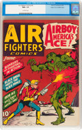 Golden Age (1938-1955):War, Air Fighters Comics #9 Mile High pedigree (Hillman Fall, 1943) CGC NM+ 9.6 Off-white pages....