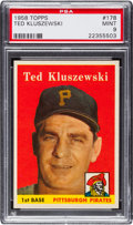 Baseball Cards:Singles (1950-1959), 1958 Topps Ted Kluszewski #178 PSA Mint 9 - One Higher. ...