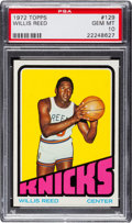 Basketball Cards:Singles (1970-1979), 1972 Topps Willis Reed #129 PSA Gem Mint 10 - Pop Two! ...