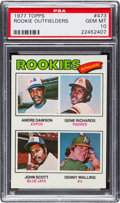 Baseball Cards:Singles (1970-Now), 1977 Topps Andre Dawson/Rookie Outfielders #473 PSA Gem Mint 10....