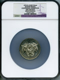 Washingtonia, 1876 Centennial Exhibition, Danish Medal -- Edge Damaged -- NGC Details. Unc. Baker-426B. White metal, 53 mm....