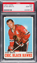 Hockey Cards:Singles (1970-Now), 1970 Topps Stan Mikita #20 PSA Gem Mint 10 Pop Two. ...