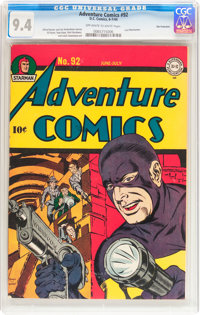 Adventure Comics #92 San Francisco pedigree (DC, 1944) CGC NM 9.4 Off-white to white pages