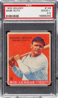 Baseball Cards:Singles (1930-1939), 1933 Goudey Babe Ruth #149 PSA Good+ 2.5....
